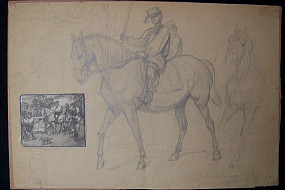 Untitled Sketch of Horse and Rider