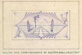 The back of Emil Wittenberg's design for the camp currency.