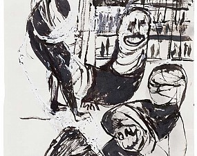 Bound people, in ink and correction fluid